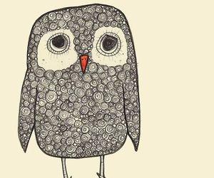 owl, illustration, and art image