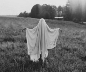 ghost, black and white, and vintage image