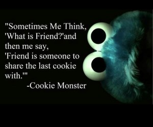 friends, cookie monster, and cookie image