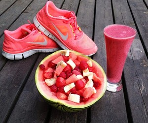 nike, fruit, and pink image