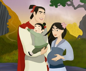 disney, mulan, and family image