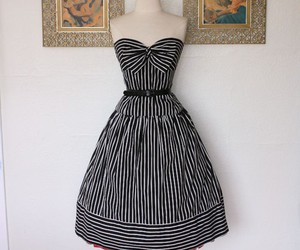 dress, bow, and stripes image