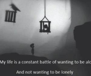 alone, lonely, and battle image
