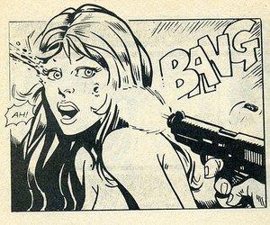 bang, comic, and girl image