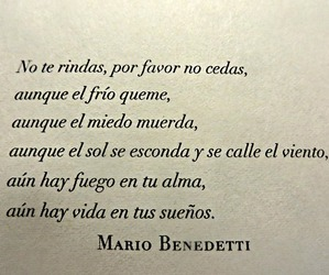 frases, mario benedetti, and Dream image