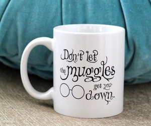 harry potter, mug, and muggles image
