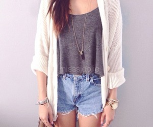 cropped, sweater, and denim image