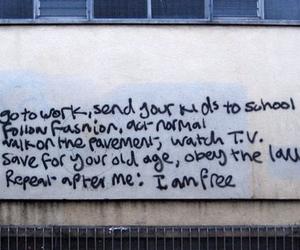 free, quote, and graffiti image