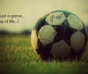 football, life, and way image