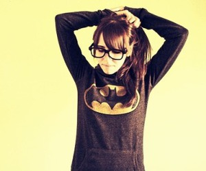 batman, girl, and glasses image