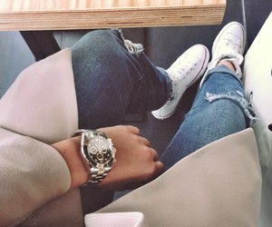 outfit, watch, and style image