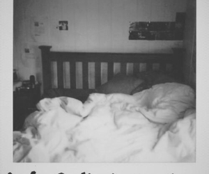love, bed, and black and white image