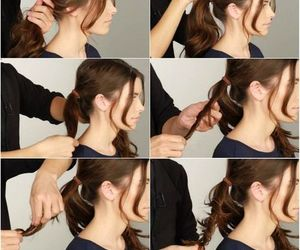 girl, hair style, and hair tutorial image