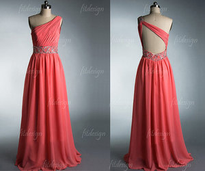 prom dresses, long prom dresses, and coral prom dresses image