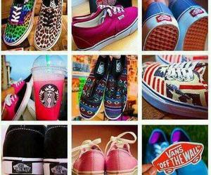 vans, shoes, and starbucks image