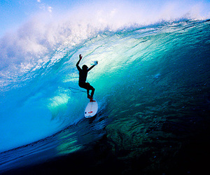 blue, surf, and ocean image
