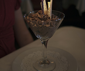 birthday, candle light, and dessert image
