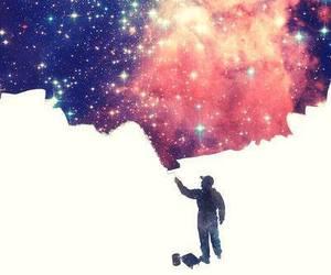 galaxy, art, and universe image