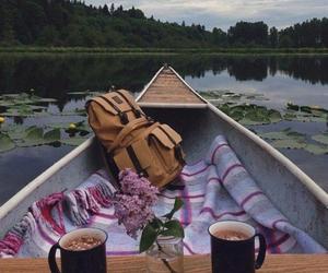 fun, lake, and nature image