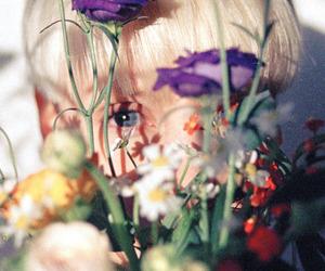 flowers, boy, and eyes image