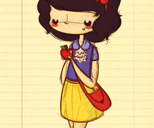 drawing and snow white image