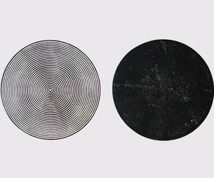 art, black and white, and circle image