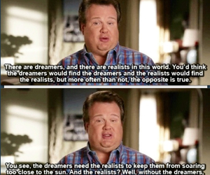 quote, modern family, and dreamers image