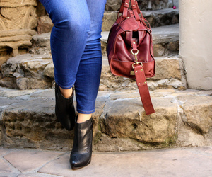 ankle boots, satchel, and kooba image