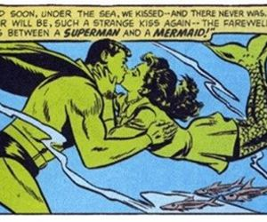 comic book, kiss, and mermaid image