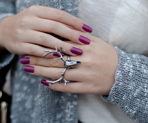 ring, purple, and nails image