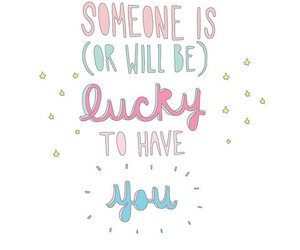 love, lucky, and quote image