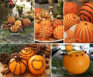 christmas, orange, and decoration image