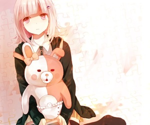 anime girl, kawaii, and danganronpa image