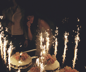 cake, birthday, and hipster image