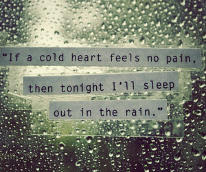 rain, heart, and cold image