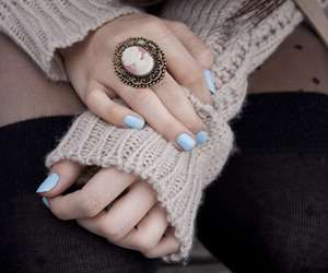 fashion, ring, and nails image