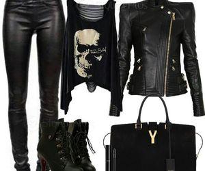 black, clothes, and bag image