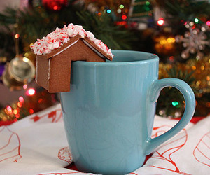 christmas, cup, and coffee image