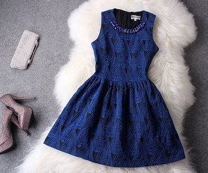 black, blue, and dress image