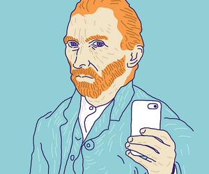 selfie, van gogh, and art image