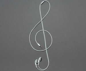 music and headphones image