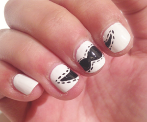 beauty, nails, and moustache image