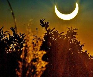 beautiful, moon, and half moon image