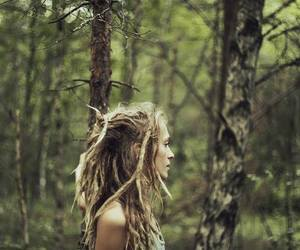 dreads, dreadlocks, and nature image