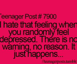 teenager post, quote, and depressed image