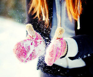 christmas, fashion, and gloves image