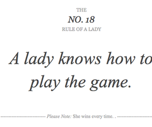 lady, game, and quotes image