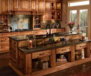 kitchen, home, and wood image