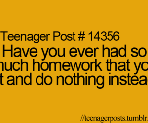 school, teenager post, and homework image
