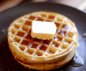 waffles, food, and butter image